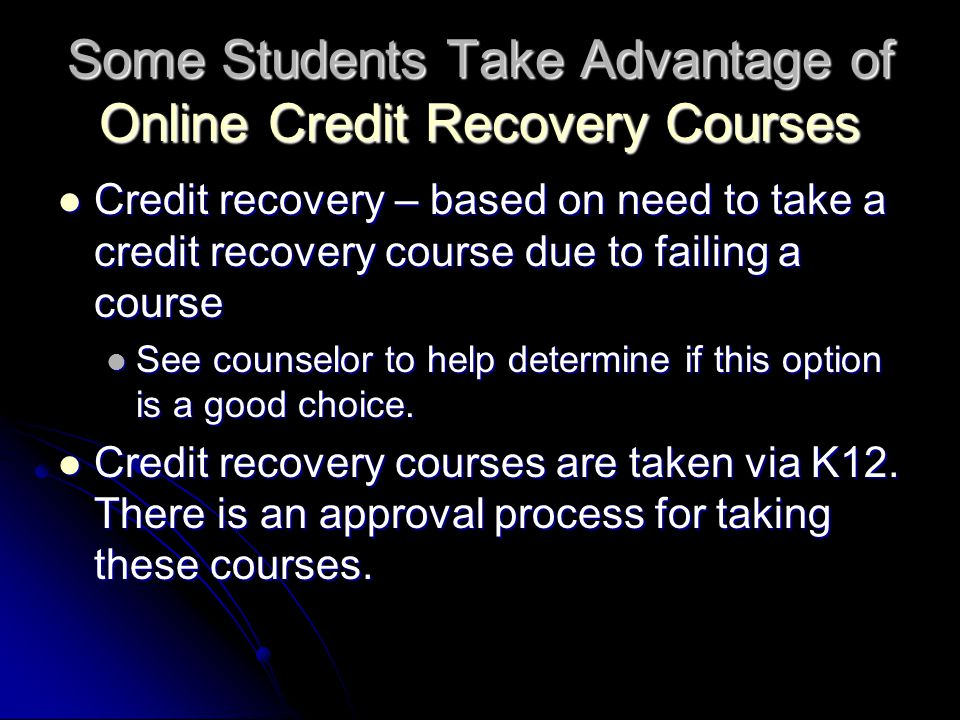 Some Students Take Advantage of Online Credit Recovery Courses