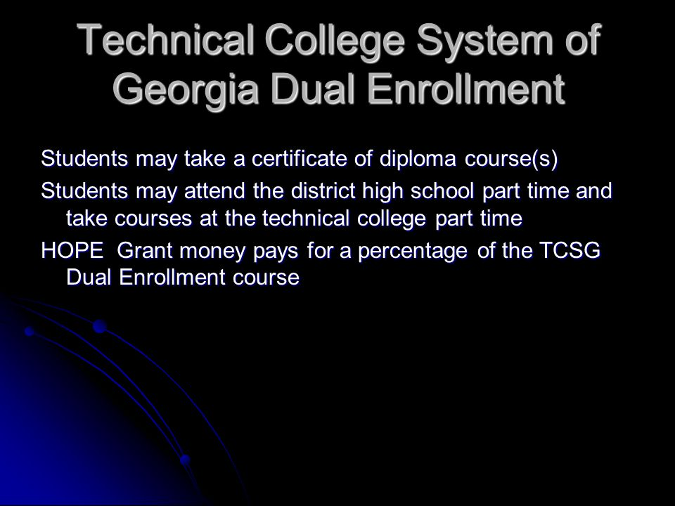 Technical College System of Georgia Dual Enrollment