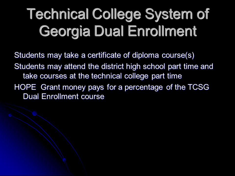 Technical College System of Georgia Dual Enrollment