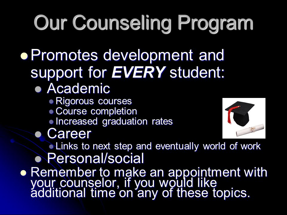 Our Counseling Program