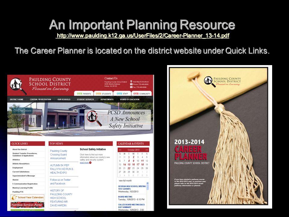 An Important Planning Resource http://www. paulding. k12. ga