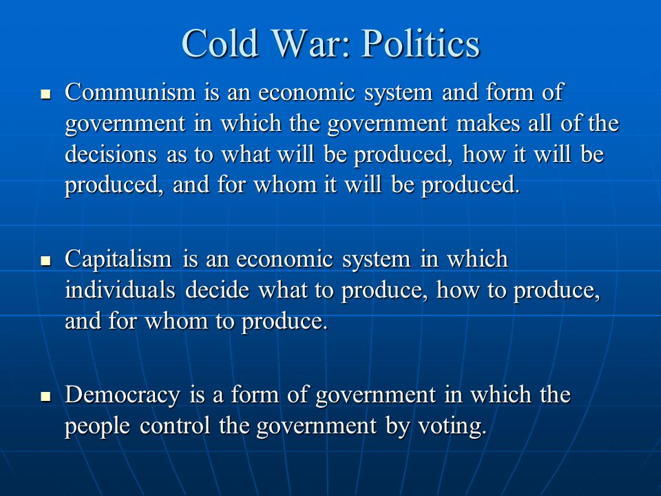 Cold War: Politics