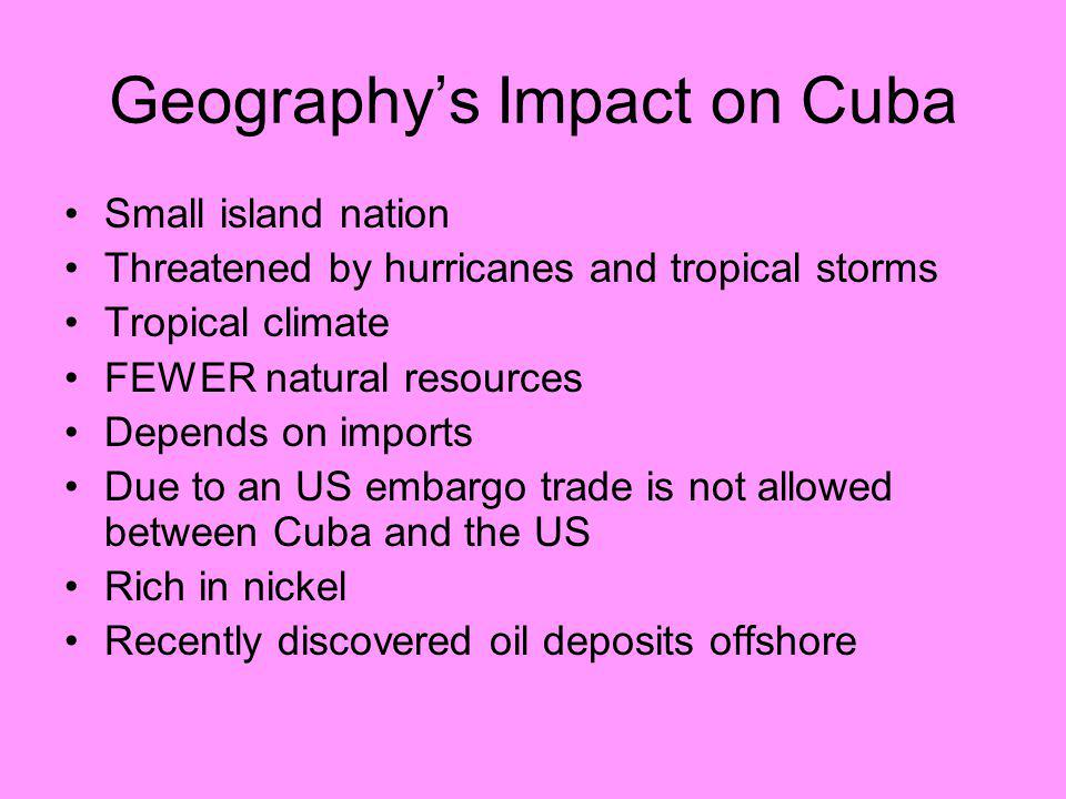 Geography's Impact on Cuba