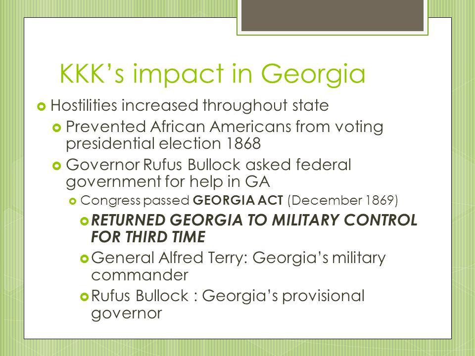 KKK's impact in Georgia