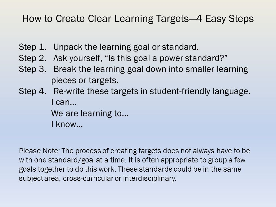 How to Create Clear Learning Targets—4 Easy Steps