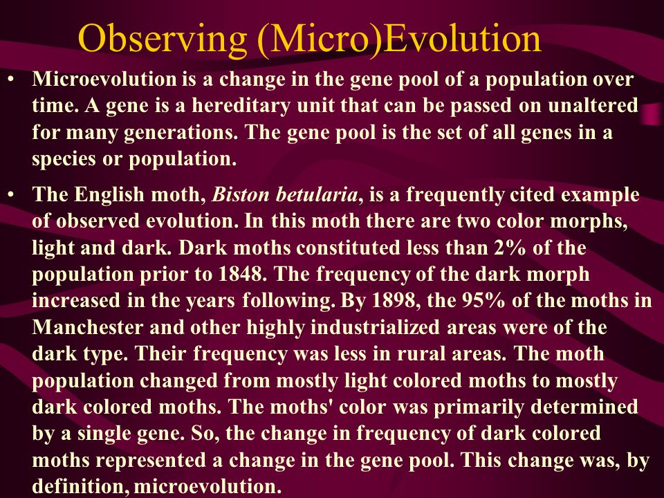 Observing (Micro)Evolution