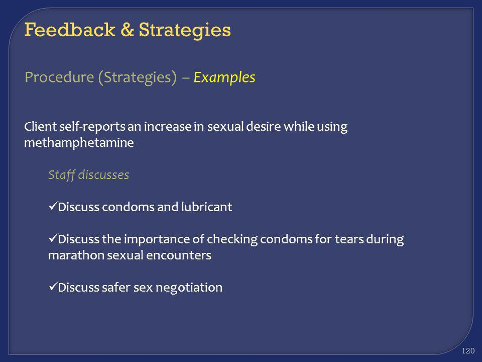 Feedback & Strategies Procedure (Strategies) – Examples