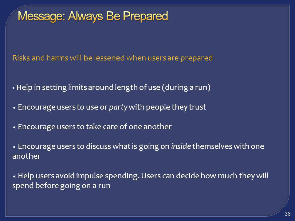 Message: Always Be Prepared