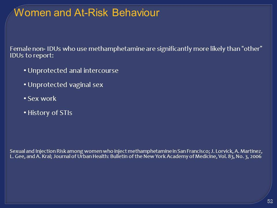 Women and At-Risk Behaviour