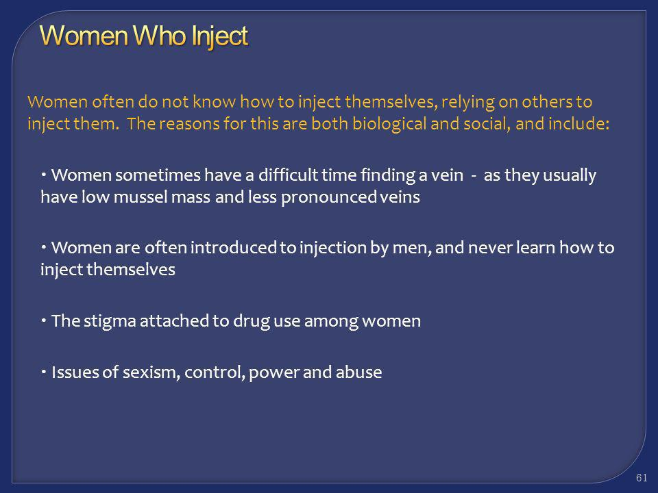 Women Who Inject