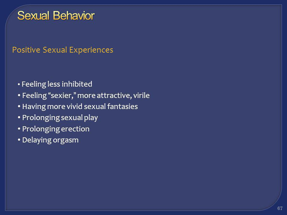 Sexual Behavior Positive Sexual Experiences