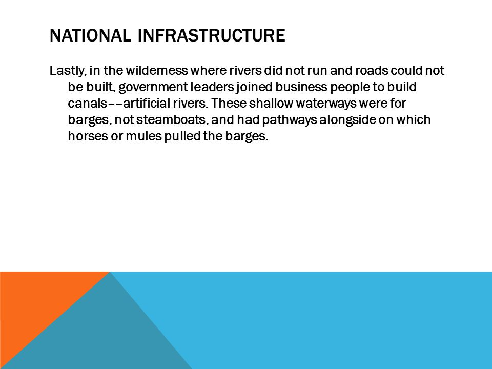 National infrastructure