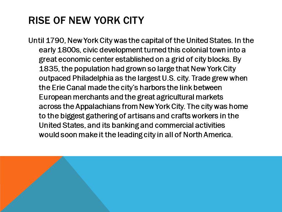 Rise of new york city
