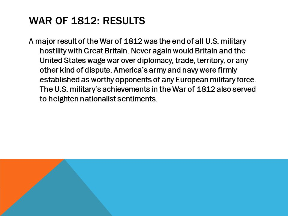 War of 1812: results