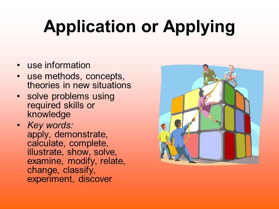 Application or Applying