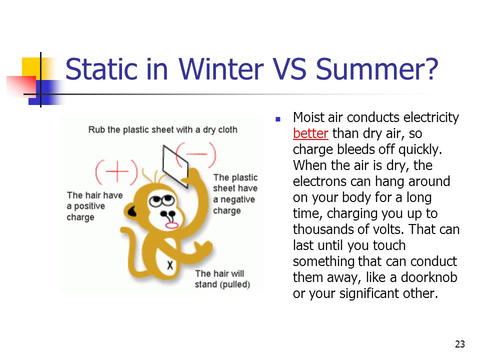 Static in Winter VS Summer