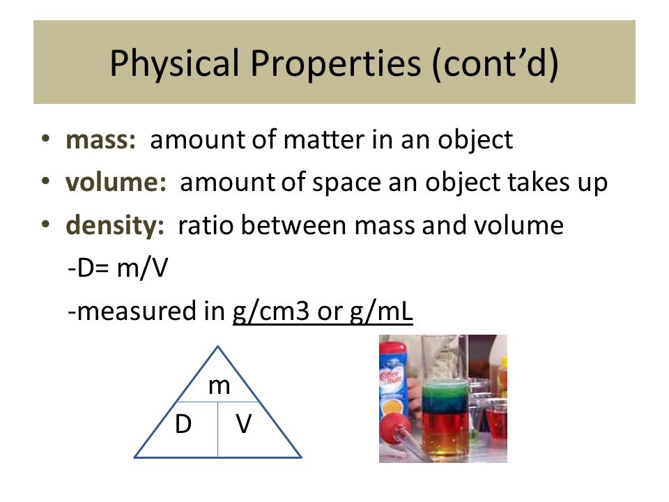 Physical Properties (cont'd)