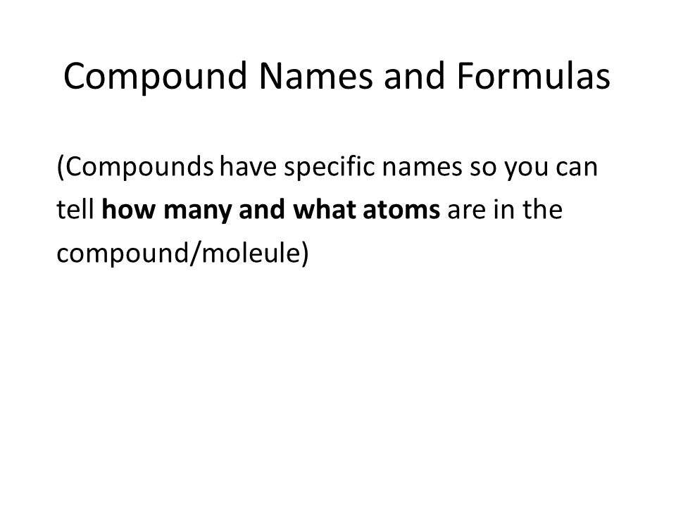 how to tell how many atoms are in a compound
