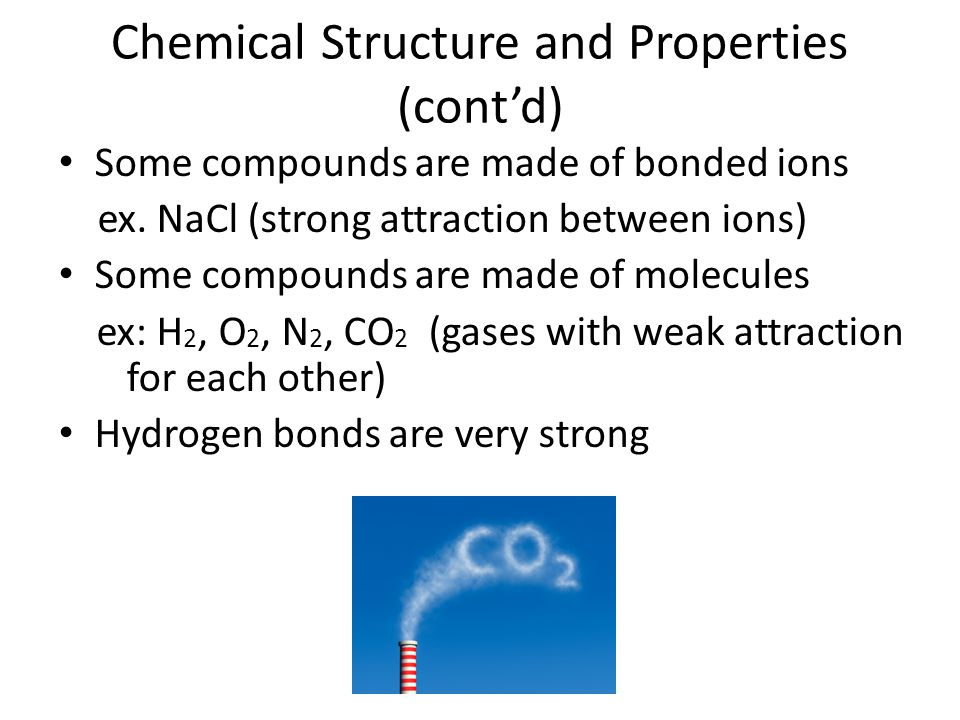 Chemical Structure and Properties (cont'd)