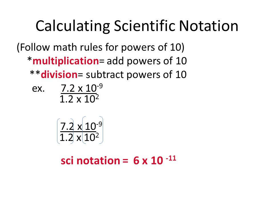 Calculating Scientific Notation