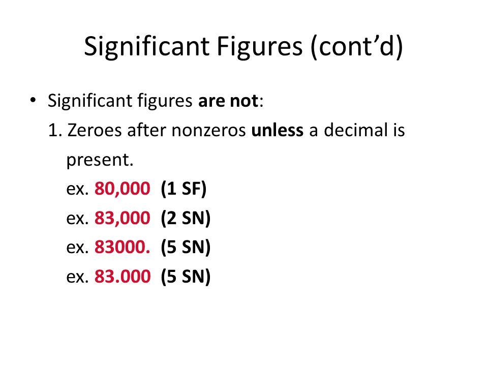 Significant Figures (cont'd)
