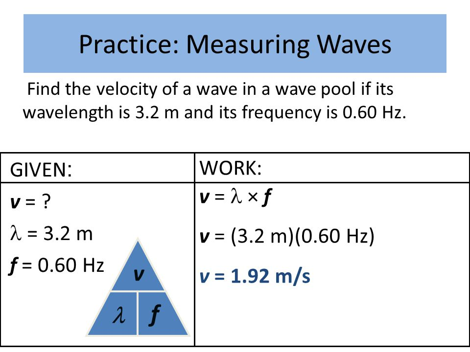 Practice: Measuring Waves