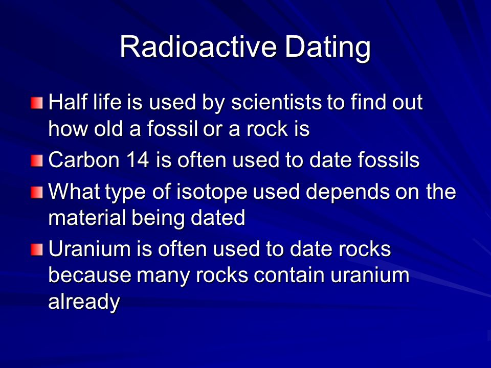 dioactive dating science Study Sets and Flashcards - Quizlet