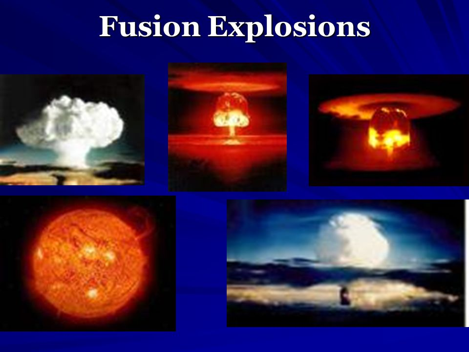 Fusion Explosions