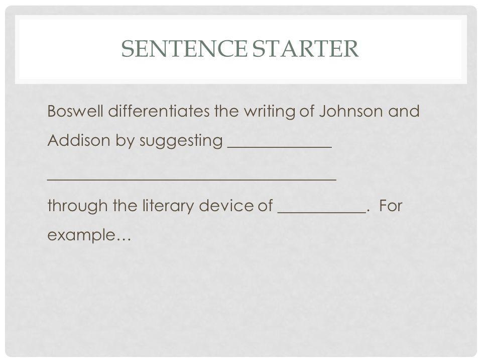 Sentence Starter