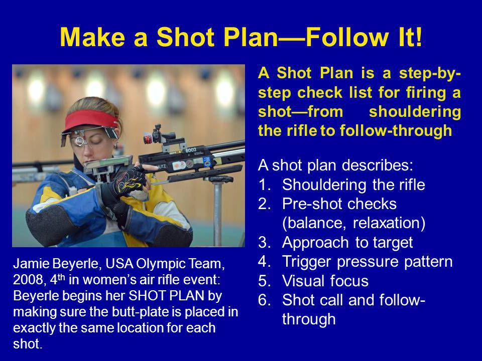 Make a Shot Plan—Follow It!