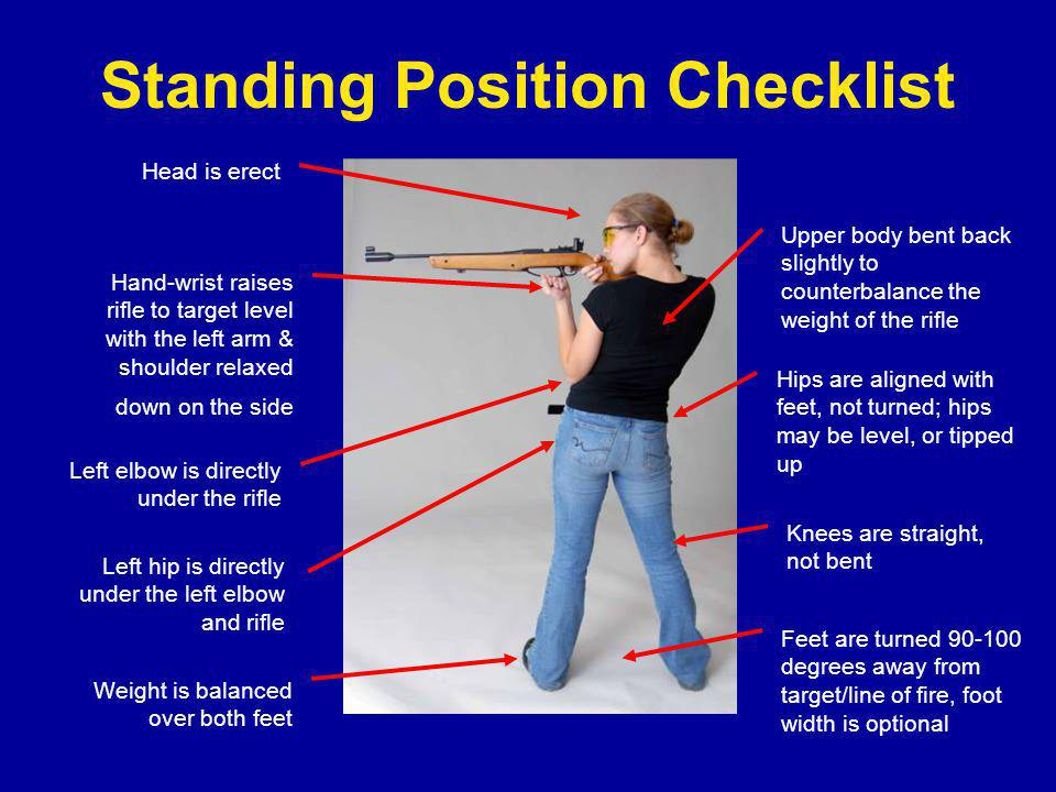 Standing Position Checklist