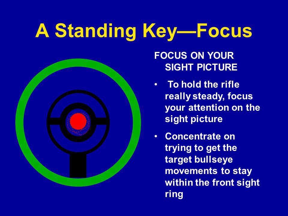 A Standing Key—Focus FOCUS ON YOUR SIGHT PICTURE