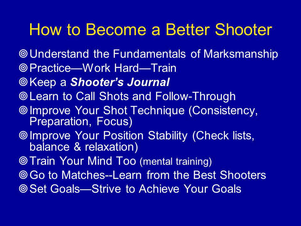 How to Become a Better Shooter