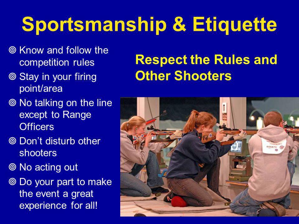 Sportsmanship & Etiquette
