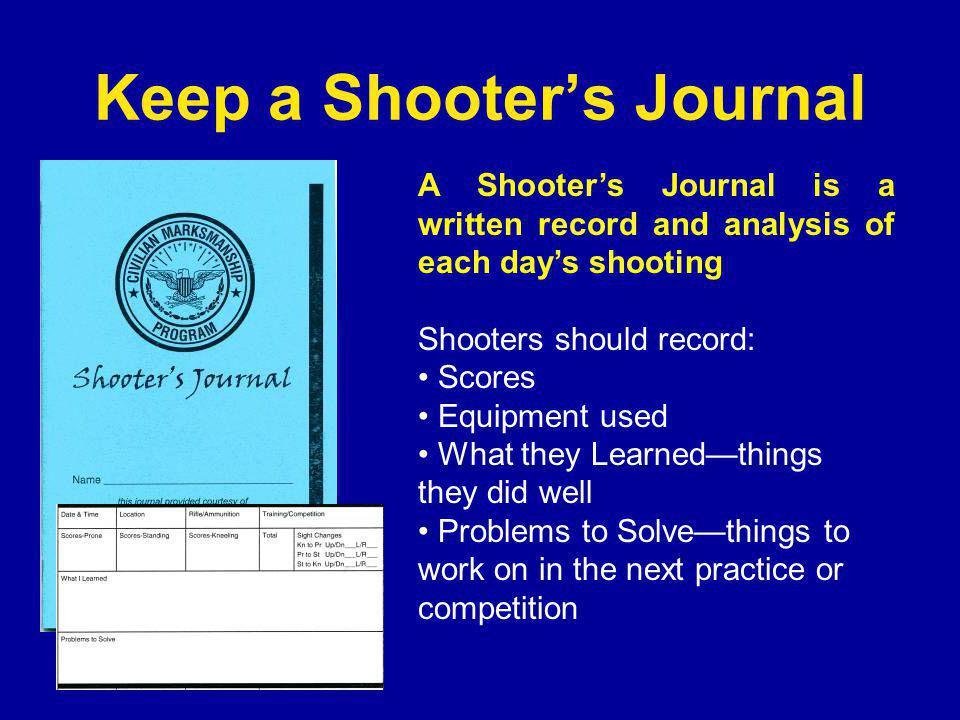 Keep a Shooter's Journal