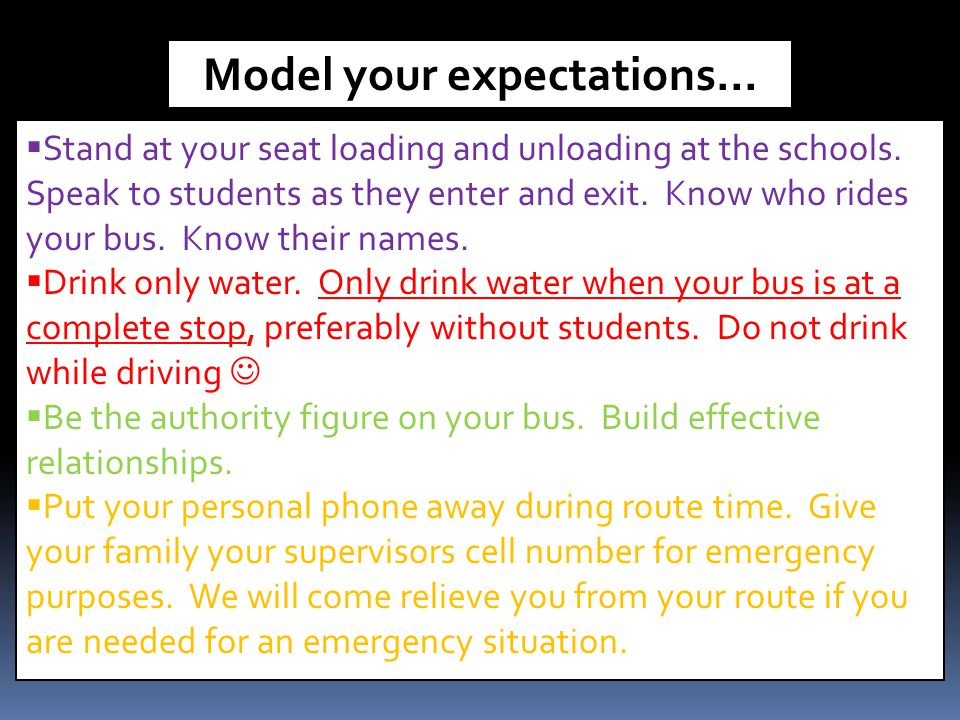 Model your expectations…