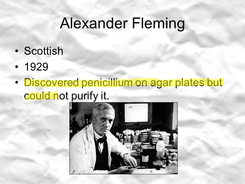 Alexander Fleming Scottish 1929