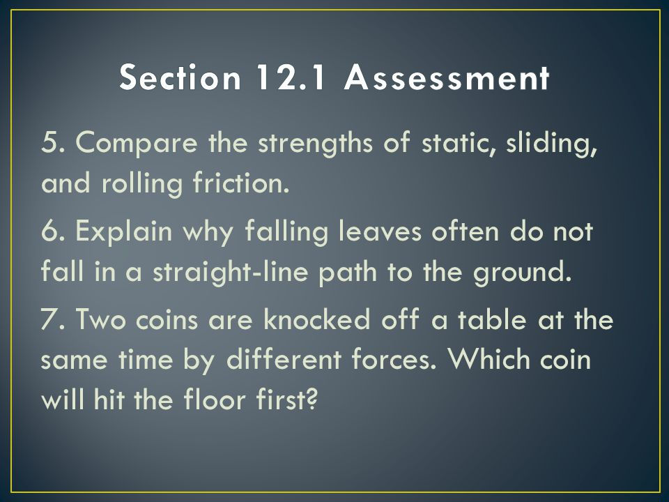 Section 12.1 Assessment