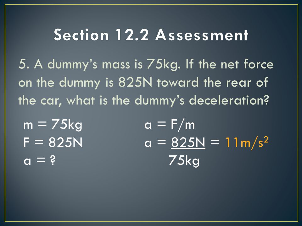 Section 12.2 Assessment