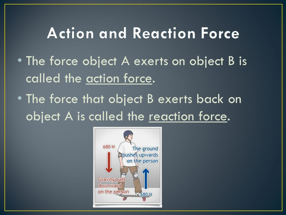 Action and Reaction Force