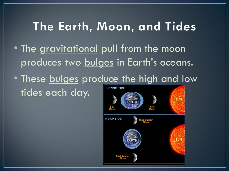 The Earth, Moon, and Tides