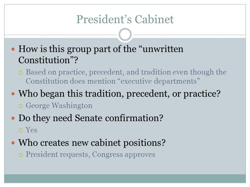 Cabinet Positions In Order Of Creation - thesecretconsul.com