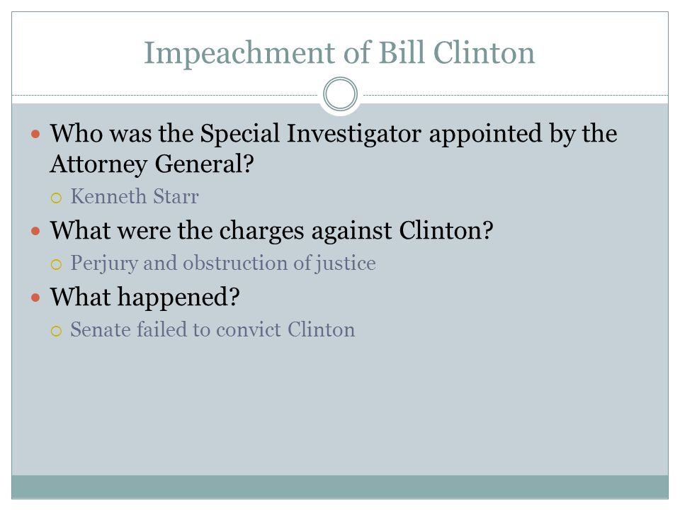 Impeachment of Bill Clinton