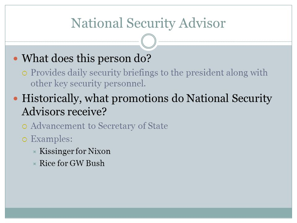 National Security Advisor