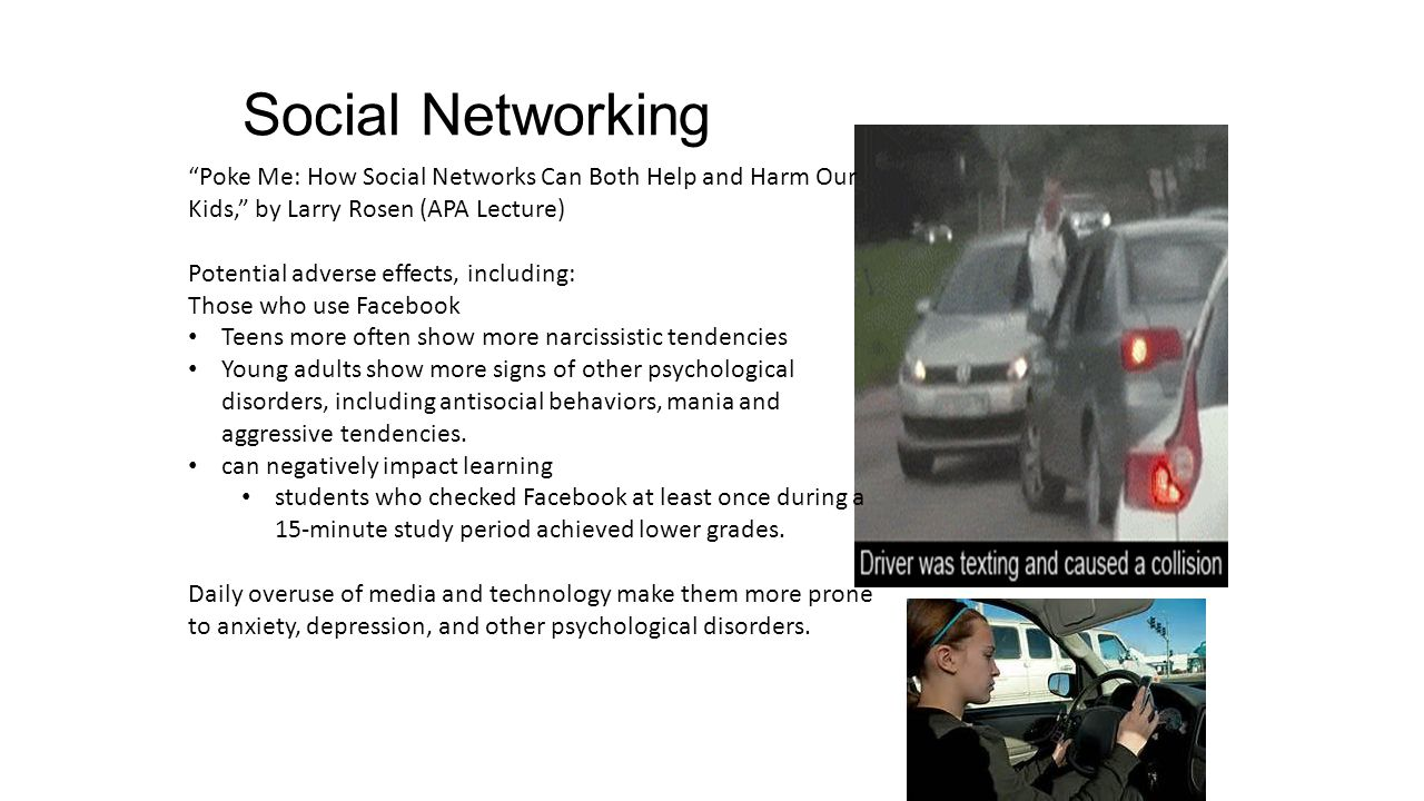 how social networking affects our everyday Social media is not to blame the things on social media are to blame and those stereo types on social media effect other people to change to make a change social media should not be taken away the people posting influencing stereo type or those people posting inappropriate things should be taken away.