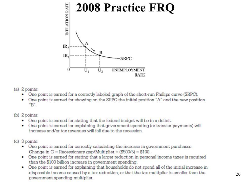 2008 Practice FRQ 20