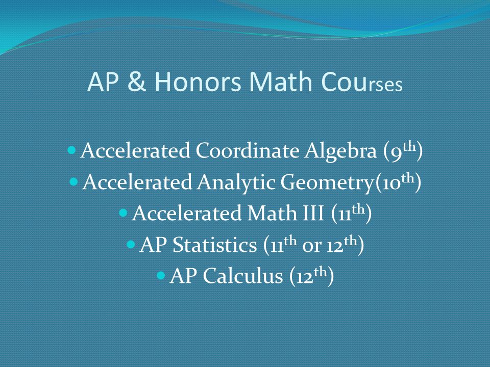 AP & Honors Math Courses