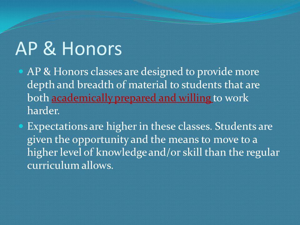 AP & Honors