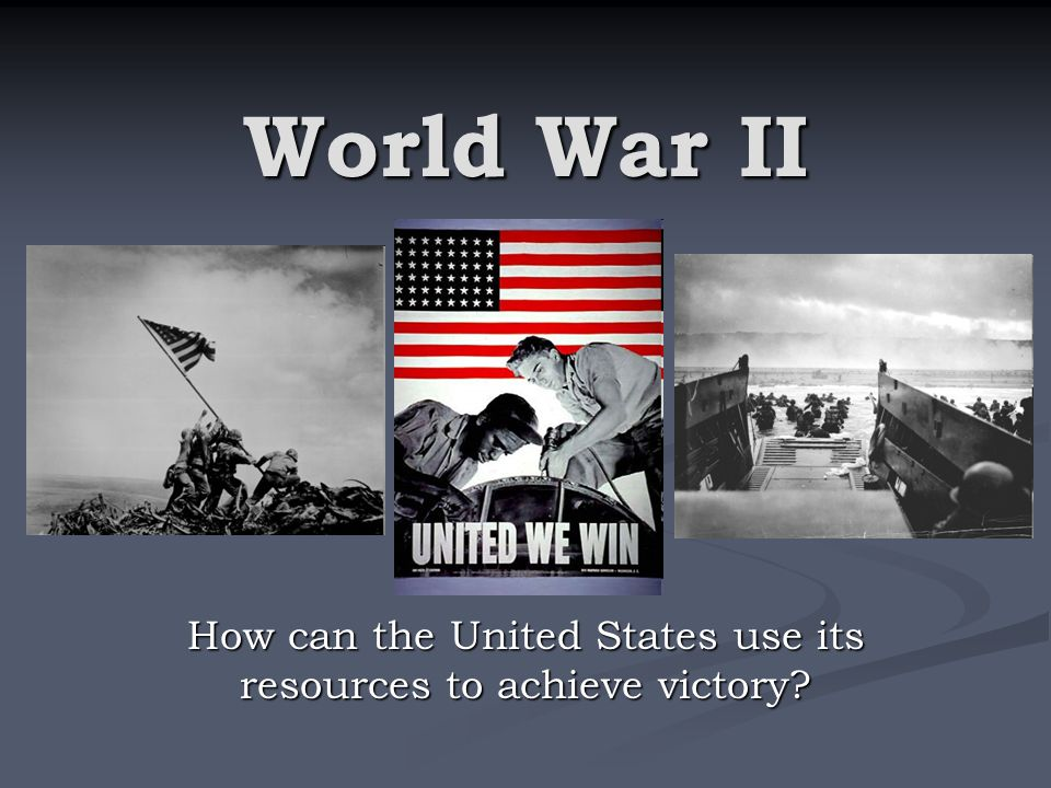 How can the United States use its resources to achieve victory