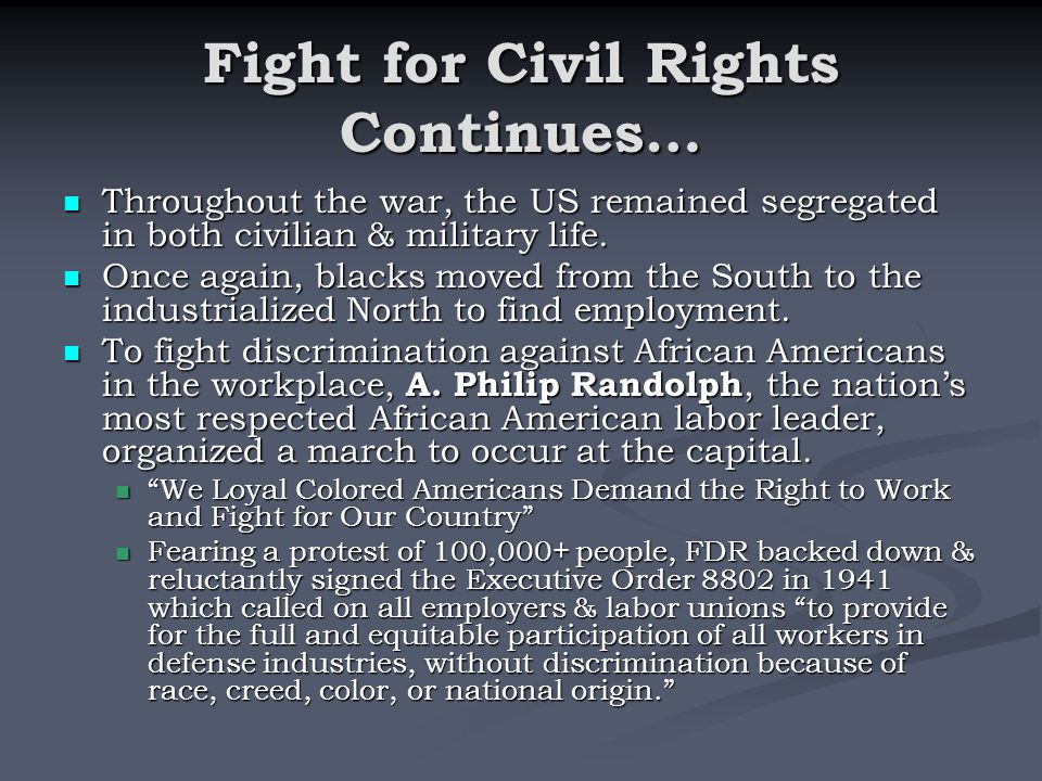 Fight for Civil Rights Continues…